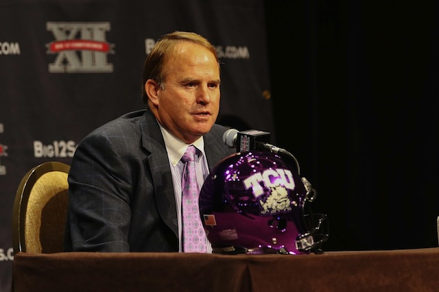 Gary Patterson sent a transcript of his comments to Les Miles to clear the air regarding Jeremy Hill. (USATSI)