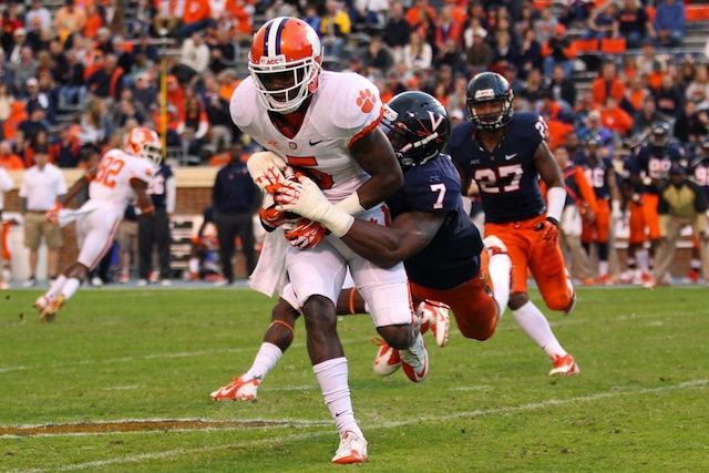 Academics have sidelined Clemson wide receiver Germone Hopper for the rest of spring practice.  (USATSI)