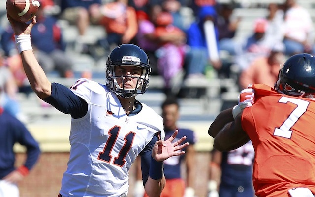 Greyson Lambert will be UVA's No. 1 quarterback heading into the 2014 season. (USATSI)