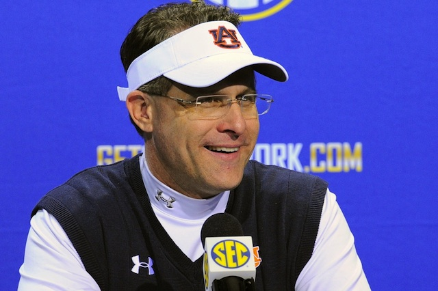 Gus Malzahn is one of 10 finalists for the Liberty Mutual Coach of the Year award.  (USATSI)