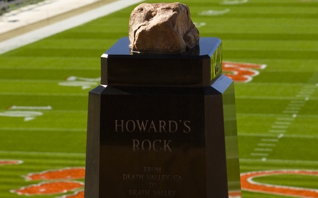 Clemson's iconic Howard's Rock was vandalized earlier this month. (USATSI)