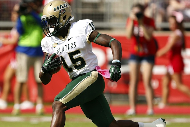 UAB wide receiver Jackie Williams was dismissed for undisclosed reasons. (USATSI)