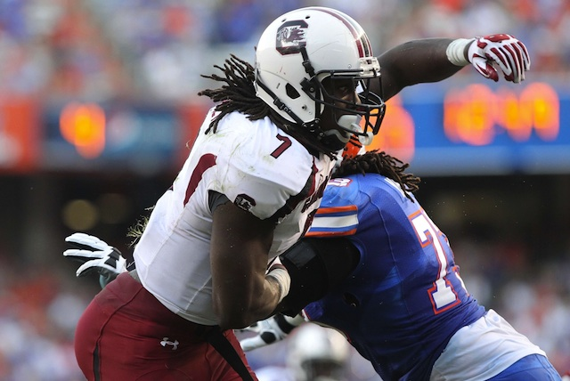 South Carolina defensive end Jadeveon Clowney was a Nagurski Trophy finalist in 2012. (USATSI)