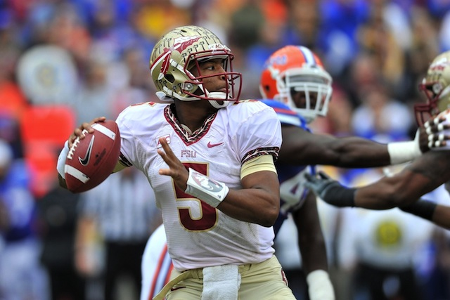 According to the oddsmakers, Jameis Winston is a runaway favorite according to win the Hesiman.  (USATSI)