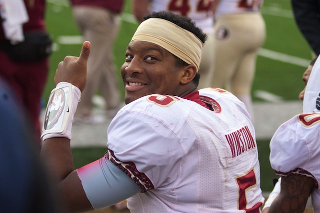 Florida State fans are fired up about the idea that Winston could play 2 more season in Tallahassee.  (USATSI)