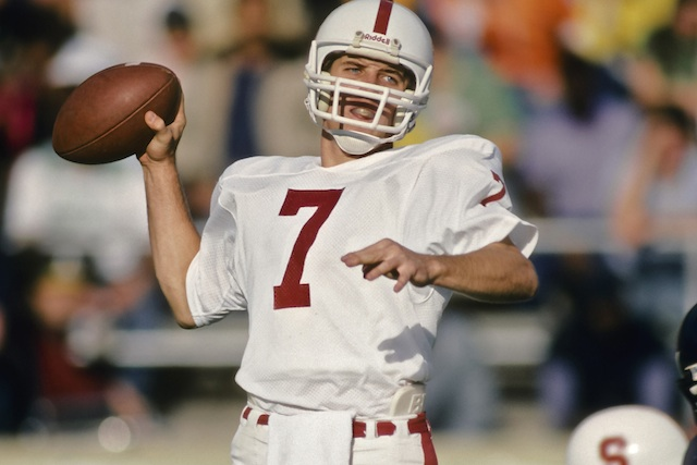 Stanford will retire John Elway's No. 7 at halftime of the Oregon game on Nov. 7. (Getty Images)
