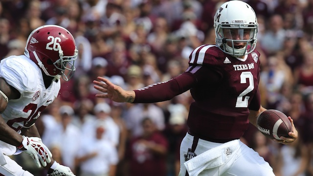 Chris Huston, the Heisman Pundit, details why Manziel won't win the stiff-arm trophy in 2013. (USATSI)