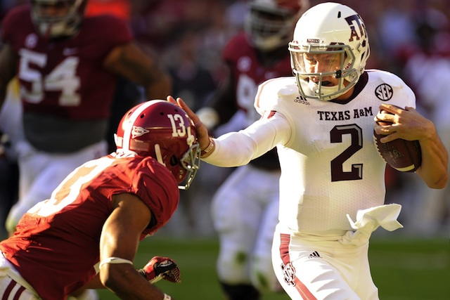 Johnny Manziel led Texas A&M to a 29-24 upset of Alabama in 2012. (USATSI)
