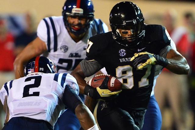 Vanderbilt wide receiver Jordan Matthews has over 100 yards receiving in the third quarter. (USATSI)