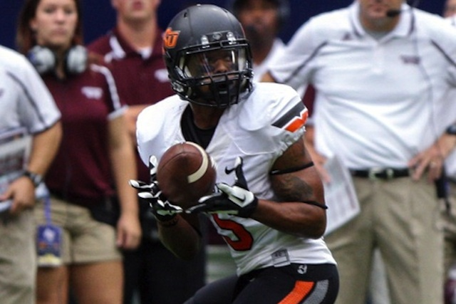 Leading receiver Josh Stewart will not play against Texas on Saturday. (USATSI)