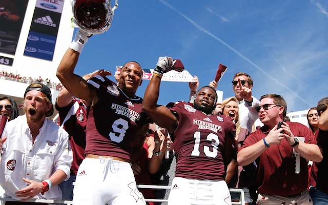 Mississippi State starting safety arrested domestic violence. (USATSI)