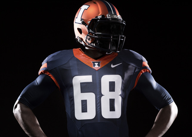 5463e3ad1d4 The jerseys are the best part, though, with sublimated stripes as a nod to  football legend Red Grange.