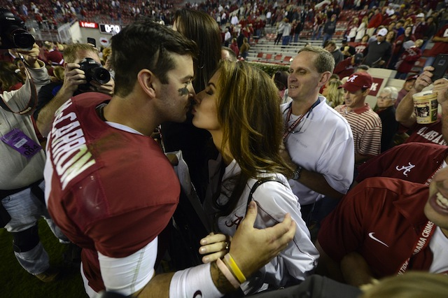 Katherine Webb will attend her first Iron Bowl on Saturday in Auburn. (USATSI)