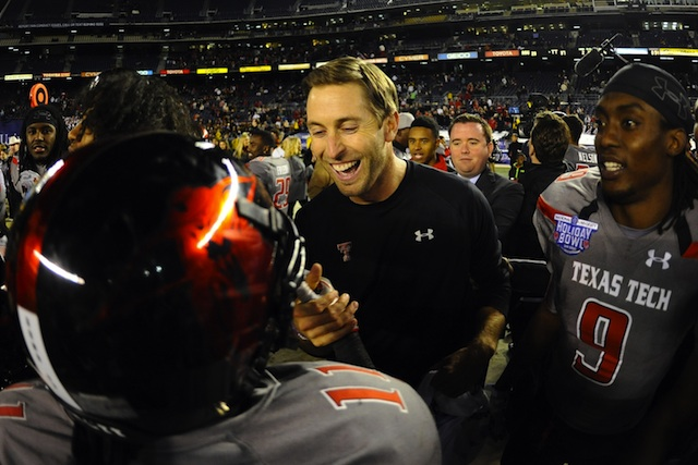 Kliff Kingsbury rapping DJ Khaled does not disappoint.  (USATSI)