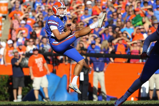 Florida punter Kyle Christy was a Ray Guy Award semifinalist in 2012. (USATSI)