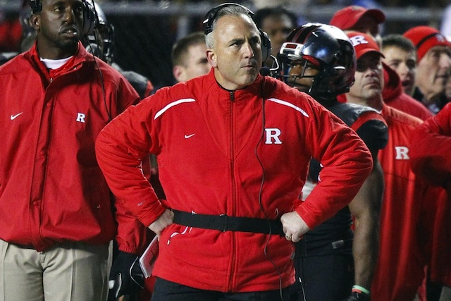 Rutgers coach Kyle Flood announced the dismissal of Michael Larrow on Monday. (USATSI)