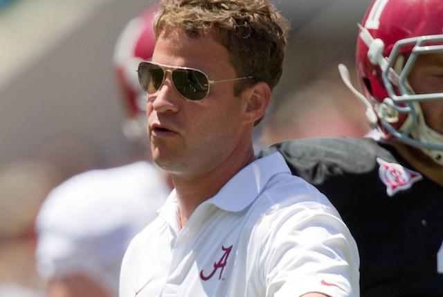Lane Kiffin took over Alabama's open offensive coordinator position in January. (USATSI)