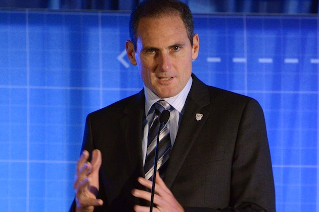 Larry Scott's contract as Pac-12 commissioner was extended through 2018. (USATSI)