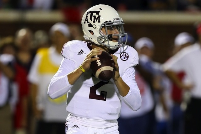 Johnny Manziel led Texas A&M back from a fourth quarter deficit to defeat Ole Miss on the road. (USATSI)