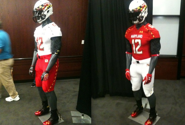 watch c088d a8050 PHOTO: Maryland Under Armour football uniforms for 2012 ...