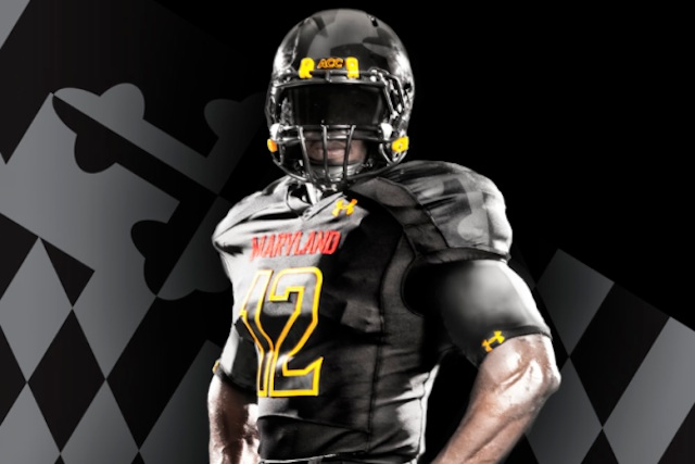 ca031049319 PHOTO  Maryland  Black Ops  Under Armour uniforms for Florida State game