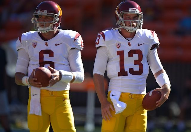 According to Lane Kiffin, neither Cody Kessler nor Max Wittek separated themselves against Hawaii. (USATSI)