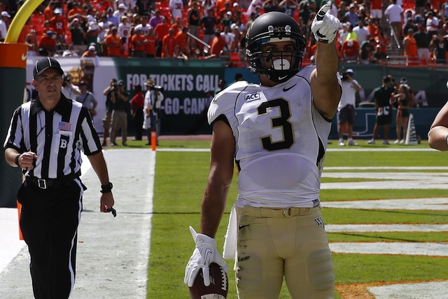 Wake Forest leading receiver Michael Campanaro will miss four to six weeks with a broken collarbone. (USATSI)