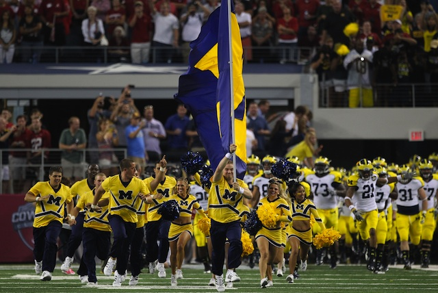 Michigan played in the 2012 Cowboys Classic against Alabama.  (USATSI)