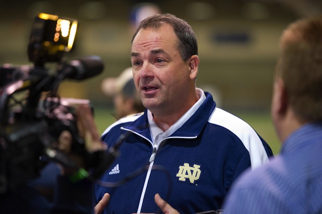 Mike Denbrock will take over as Notre Dame's offensive coordinator.  (USATSI)