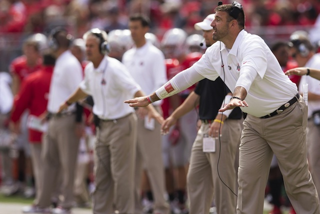 Mike Vrabel will leave Ohio State to join the Houston Texans as a LB coach.  (USATSI)