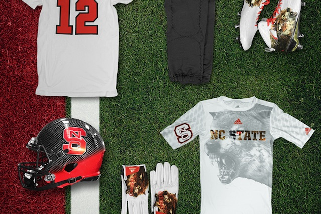 LOOK: NC State's wolf cleats, gloves will howl at you in ... North Carolina Football Shoes
