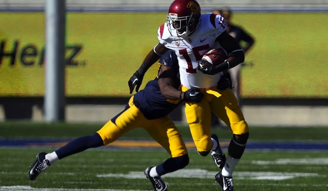 Nelson Agholor returned two punts for touchdowns against Cal. (USATSI)