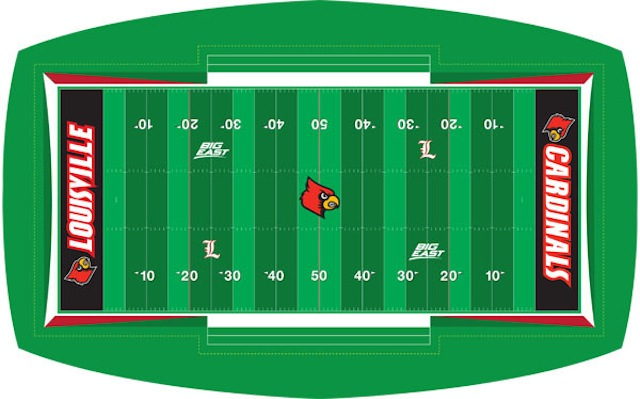 A mock up of Louisville's new field design for 2013. (Twitter.com/University of Louisville)