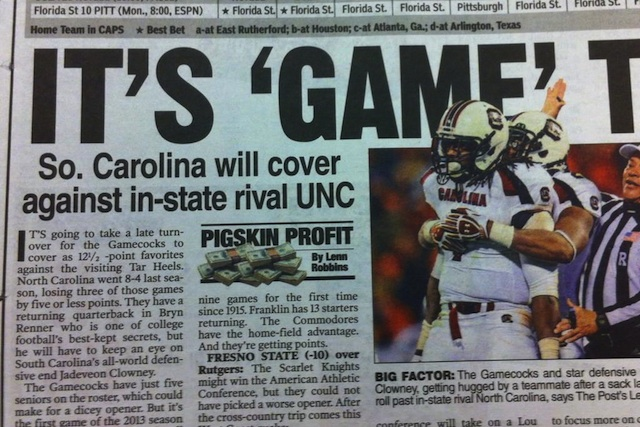 Last time we checked, UNC was in a different state from South Carolina. (Twitter.com/Kevin Vedder)