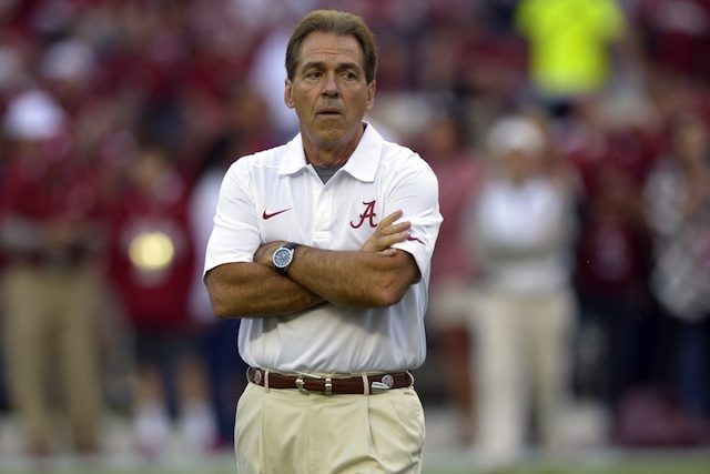 Terry Saban says she and Nick are staying at Alabama. (USATSI)