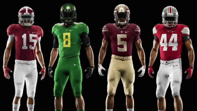 LOOK: Playoff uniforms for Alabama, Oregon, FSU, Ohio State