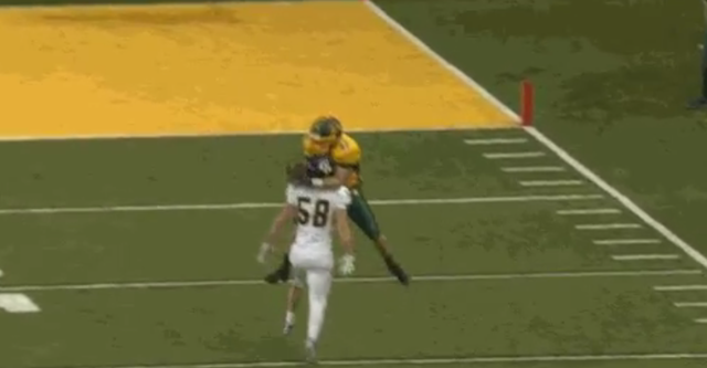 Ndsu wr freezes defender with insane over the head catch cbssports