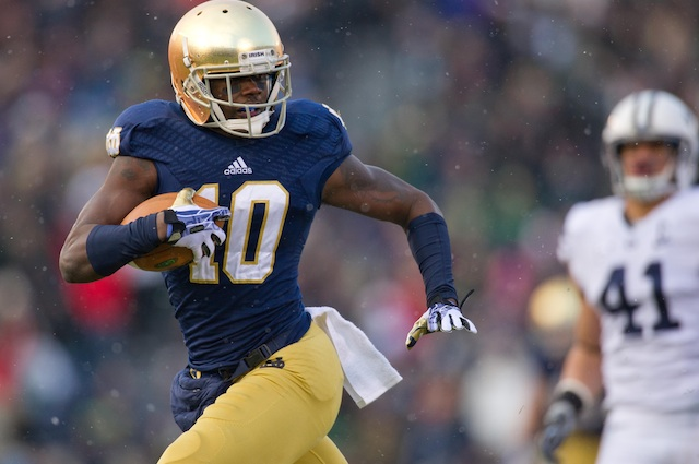 DaVaris Daniels is Notre Dame's leading returning receiver with 745 receiving yards in 2013. (USATSI)