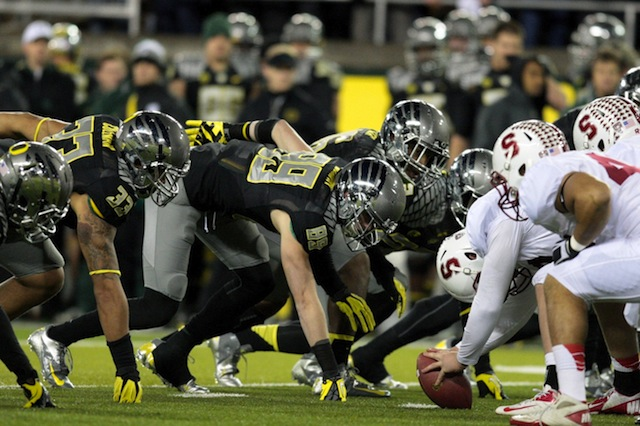 Oregon and Stanford will play a nationally televised Thursday night game in 2013. (USATSI)