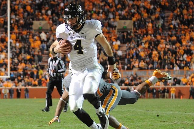 Patton Robinette contributed to Vanderbilt's 9-win season in 2013. (USATSI)