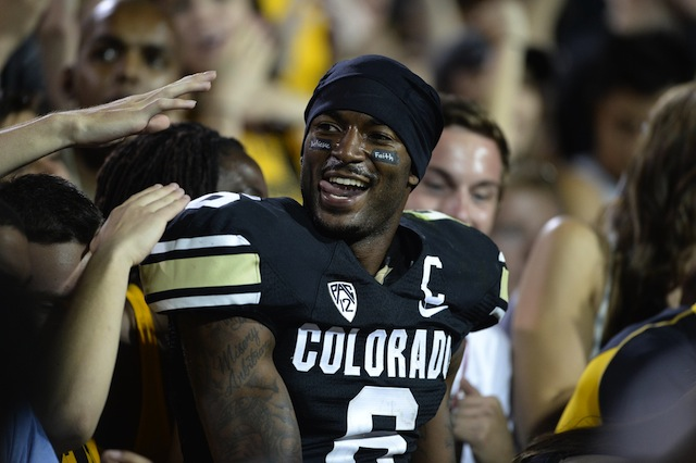 Colorado star wide receiver Paul Richardson will enter the draft.  (USATSI)