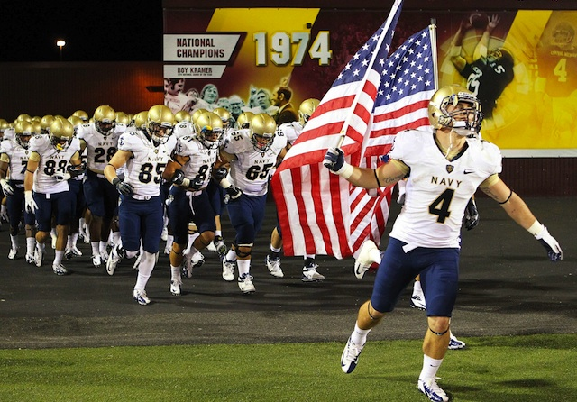 Three Navy football players are reportedly at the center of a sexual assault probe. (USATSI)
