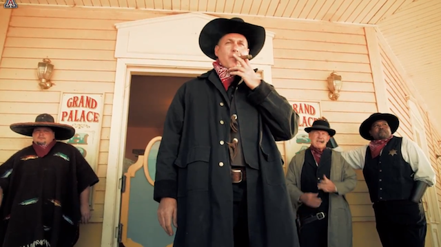 Arizona coach Rich Rodriguez in full western attire as for the Hard Edge video series. (USATSI)