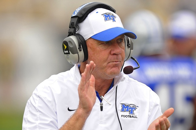 Middle Tennessee State coach Rick Stockstill will welcome his son, Brent, from Cincinnati. (USATSI)
