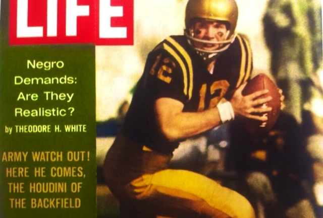 Roger Staubach, the Houdini of the backfield, was on the recalled LIFE cover. (Michael Beschloss/Twitter.com)