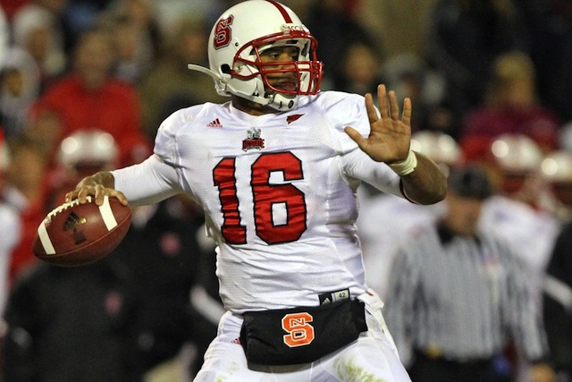 Russell Wilson spoke to N.C. State players at their spring game.
