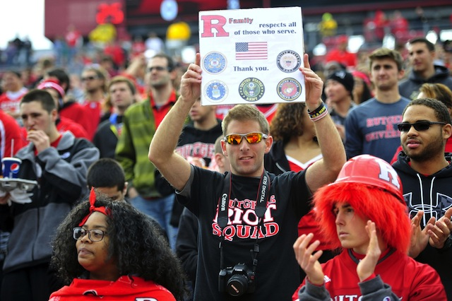 Rutgers fans must follow the NFL bag policy at home games in 2013. (USATSI)