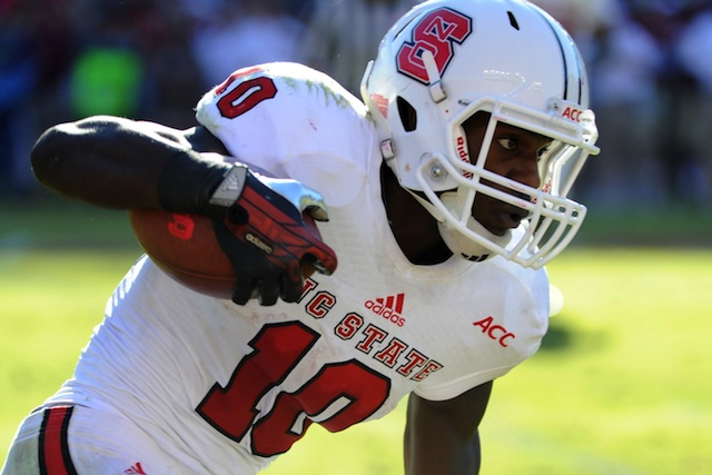 NC State running back Shadrach Thornton is in legal trouble again.  (USATSI)