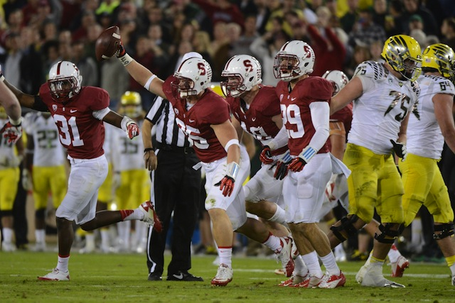 Stanford moved up to No. 5 in the AP poll after knocking off Oregon at home. (USATSI)