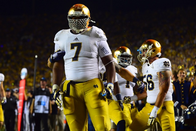 Stephon Tuitt's mother said her son has not decided on whether to return for 2014. (USATSI)